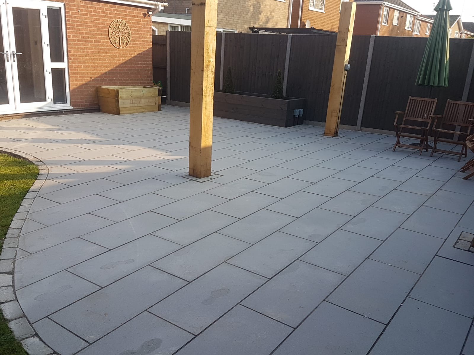 Copus Basalt Grey Porcelain 900 x 600 x 20mm Paving Slabs 19.20m²
