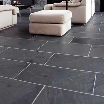Black Slate Patio Paving Slabs Pack 18.m² 20mm Calibrated