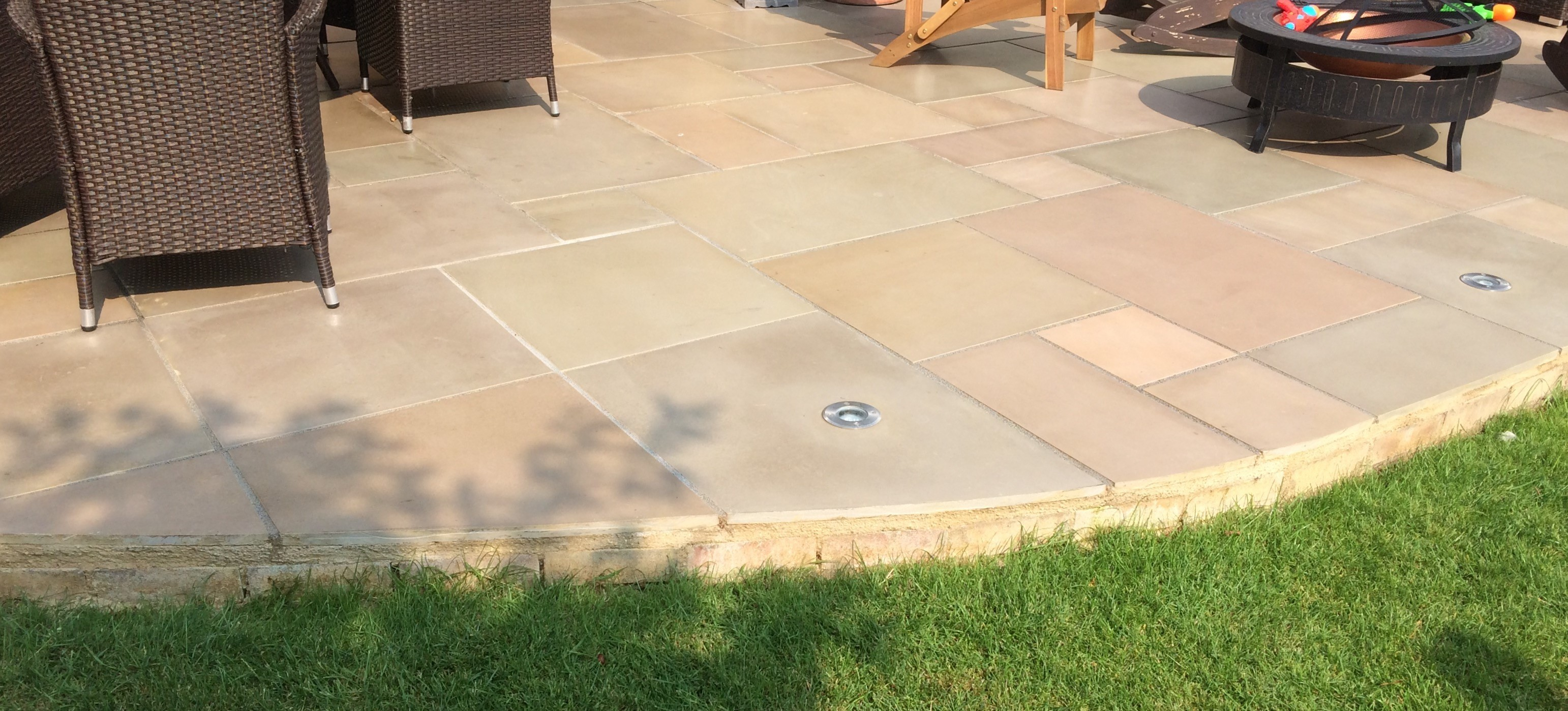 Honed Raj Green Indian Sandstone Natural 22mm Calibrated Patio Paving Slabs Pack 18.5m2