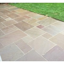 Autumn Brown Indian Sandstone Natural 18/25mm Premium Patio Paving Slabs Pack 15.5m2