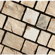 Fossil Mint Indian Sandstone Natural Paving 3 Size Setts