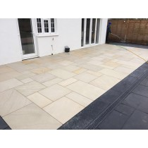 Honed Mint Indian Sandstone Natural Calibrated Patio Paving Slabs Pack 18.5m2 22mm