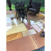 Honed Rippon Indian Sandstone Natural 22mm Calibrated Patio Paving Slabs Pack 15.5m²