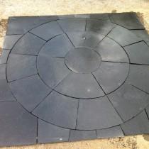 Kotah Black Indian Limestone Natural Paving Circle 2.7 Diameter with Squaring off Kit
