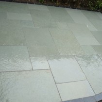 Kotah Blue Indian Limestone Natural 22mm Calibrated Patio Paving Slabs Pack 15.5m2