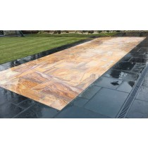 Honed Rainbow Indian Sandstone Natural Calibrated Patio Paving Slabs Pack 18.5m² 22mm
