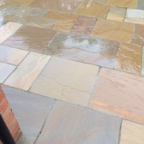 Rippon Buff Indian Sandstone Natural 22mm Calibrated Patio Paving Slabs Pack 15.5m2